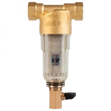 Фильтр механической очистки Atoll FF06-1/2A муфтовый (ВР/ВР), со сливом