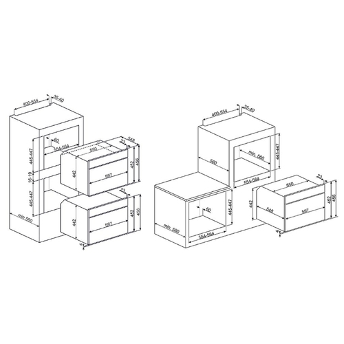 Электрический духовой шкаф smeg SF4102MCN