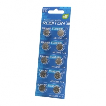 Батарейка ROBITON Alkaline Standart AG12/LR43