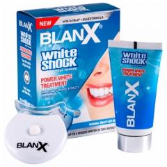Зубная паста BlanX White Shock Power White Treatment 50 мл + LED Bite, моментальное отбеливание