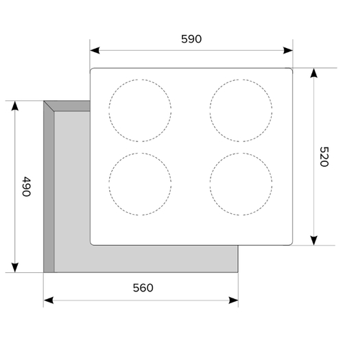 Варочная панель LEX EVI 640 F IV