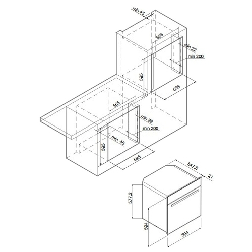 Электрический духовой шкаф GRAUDE BMDP 60.0 SG