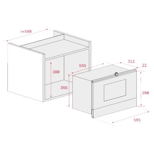 Микроволновая печь встраиваемая TEKA ML 822 BIS R (40584301)