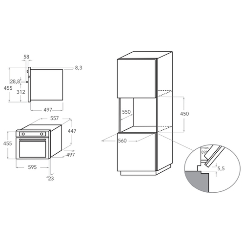 Электрический духовой шкаф KitchenAid KOQCXB 45600