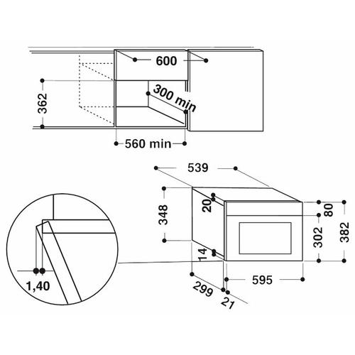 Микроволновая печь встраиваемая Hotpoint-Ariston MN 413 IX