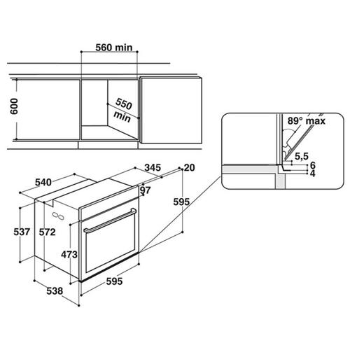 Электрический духовой шкаф Whirlpool AKZ 6270 IX