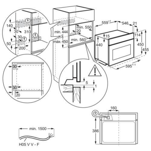 Электрический духовой шкаф Electrolux VKK8E00X