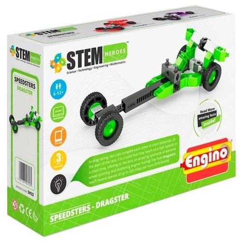 Конструктор ENGINO STEM Heroes SH32 Скоростные механизмы - Драгстер