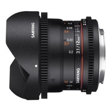 "Объектив Samyang 12mm T3.1 ED AS NCS VDSLR Fish-eye Micro 4/3"""