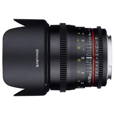 Объектив Samyang 50mm T1.5 AS UMC VDSLR Canon M