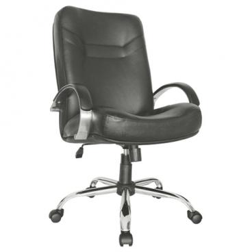 Компьютерное кресло Мирэй Групп Министр хром короткий для руководителя
