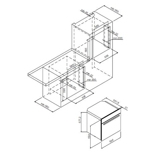 Электрический духовой шкаф GRAUDE BM 60.3 S