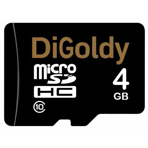 Карта памяти Digoldy microSDHC class 10 4GB