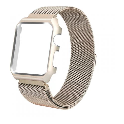 CARCAM Ремешок для Apple Watch 44mm One Body Milanese Loop Металл