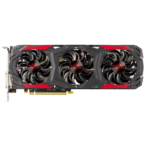 Видеокарта PowerColor Radeon RX 570 1320Mhz PCI-E 3.0 4096Mb 7000Mhz 256 bit DVI HDMI HDCP Red Devil