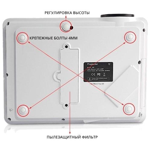 Проектор TouYinGer M5 Plus белый
