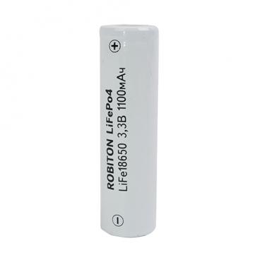 Аккумулятор LiFePO4 1100 мА·ч ROBITON LiFe18650