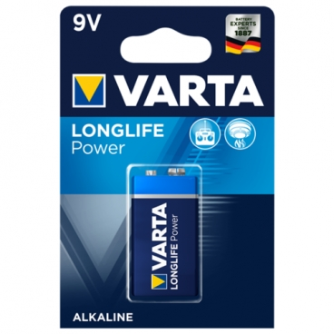 Батарейка VARTA LONGLIFE Power 9V Крона