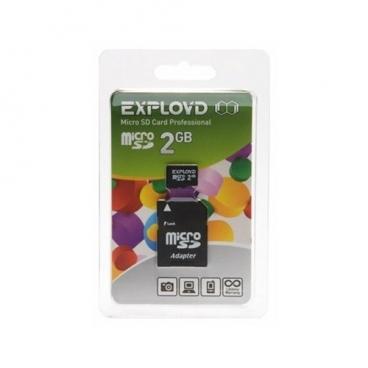 Карта памяти EXPLOYD microSD 2GB + SD adapter