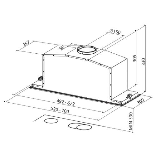 Встраиваемая вытяжка Faber INCA LUX 2.0 EG8 X A70