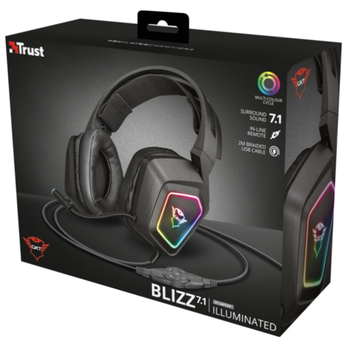 Компьютерная гарнитура Trust GXT 450 Blizz RGB 7.1 Surround Gaming Headset