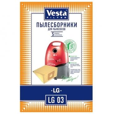 Vesta filter Бумажные пылесборники LG 03