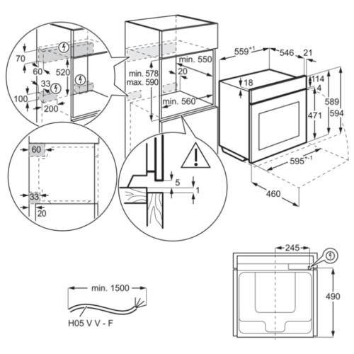 Электрический духовой шкаф Electrolux OEF5H70X