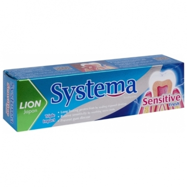 Зубная паста Lion Systema Sensitive Fresh
