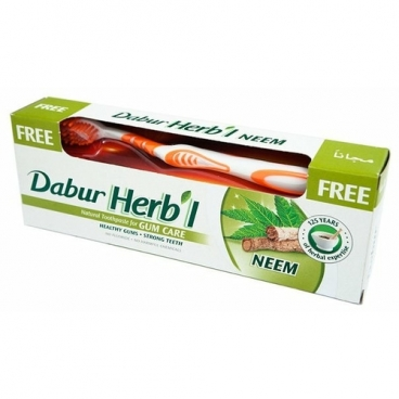 Зубная паста + щетка Dabur Herb'l Ним