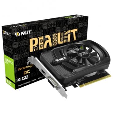 Видеокарта Palit GeForce GTX 1650 1485MHz PCI-E 3.0 4096MB 8000MHz 128 bit DVI HDMI HDCP StormX OC