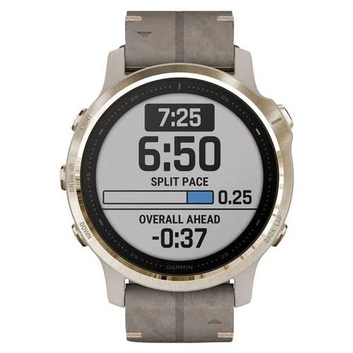 Часы Garmin Fenix 6S Sapphire с кожаным ремешком