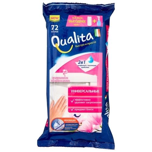 Влажные салфетки хозяйственные универсальные Qualita