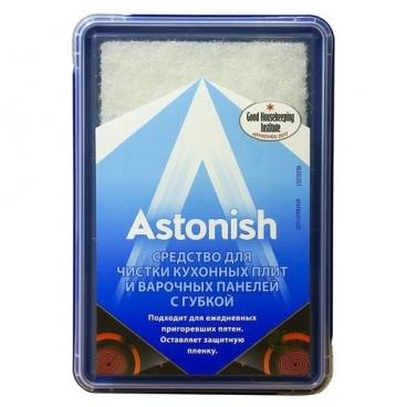 Средство для чистки кухонных плит и варочных панелей с губкой Astonish