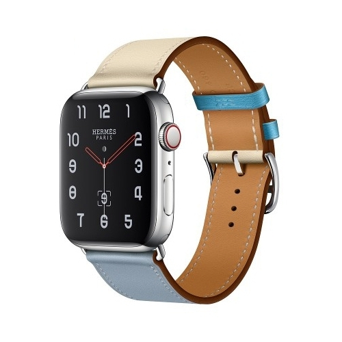 Часы Apple Watch Hermès Series 4 GPS + Cellular 44mm Stainless Steel Case with Leather Single Tour