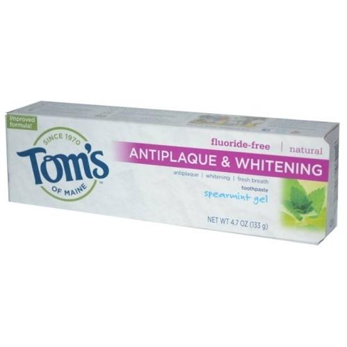 Зубная паста Tom's of Maine Antiplaque & Whitening гелевая Курчавая мята