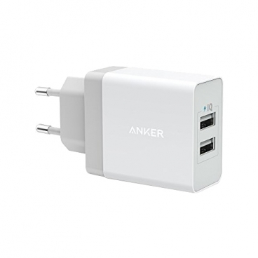 Сетевая зарядка ANKER PowerPort 2 USB + Micro USB cable