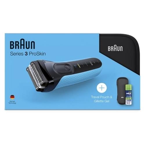 Электробритва Braun 3040s Series 3 ProSkin + гель Gillette + чехол