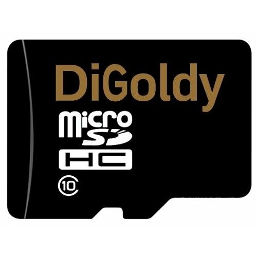 Карта памяти Digoldy microSDHC class 10 + SD adapter