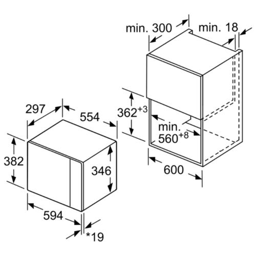 Микроволновая печь встраиваемая Bosch BFL524MS0