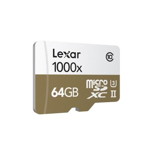 Карта памяти Lexar Professional 1000x microSDXC UHS-II 64GB + USB 3.0 reader
