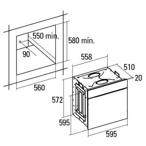 Электрический духовой шкаф CATA LCMD 8008 X