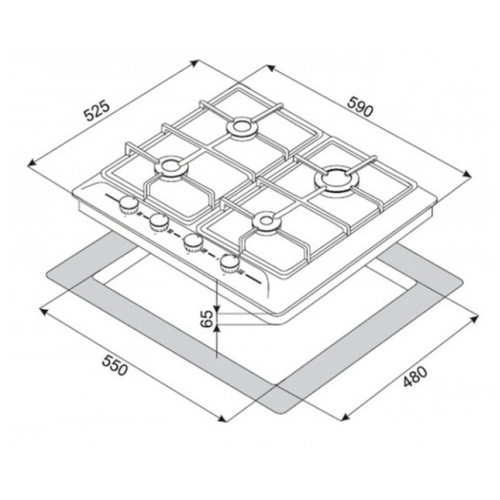 Варочная панель ZorG BP5 FD IX