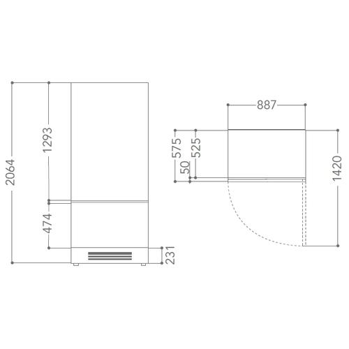 Встраиваемый холодильник KitchenAid KCVCX 20901L