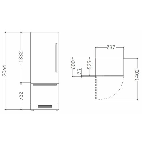 Встраиваемый холодильник KitchenAid KCZCX 20750R