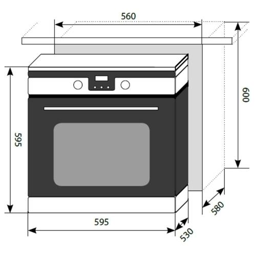 Электрический духовой шкаф LEX EDP 092 IX