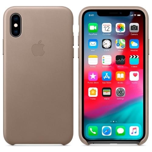 Чехол Apple кожаный для Apple iPhone XS