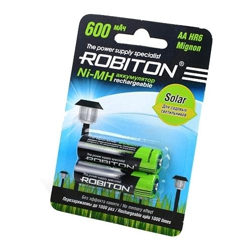 Аккумулятор Ni-Mh 600 мА·ч ROBITON Solar AA HR6 Mignon 600