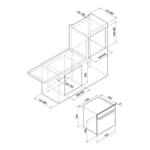 Электрический духовой шкаф GRAUDE DEG 45.0 SG