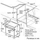 Электрический духовой шкаф Bosch HBG536HW0R