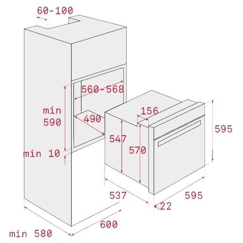 Электрический духовой шкаф TEKA HSB 630 BLACK (41560132)